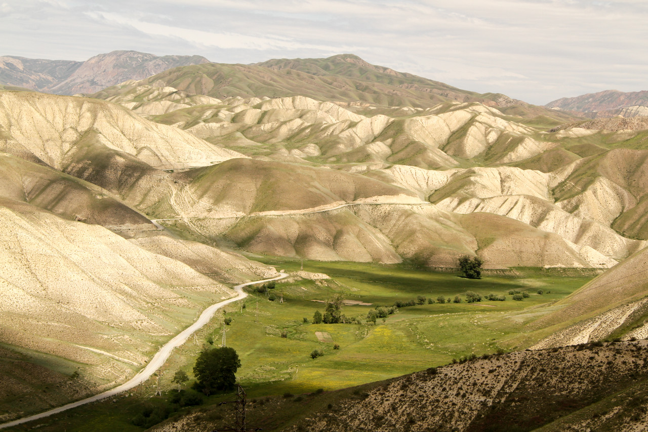 Admiring painting-like landscapes in Kyrgyzstan