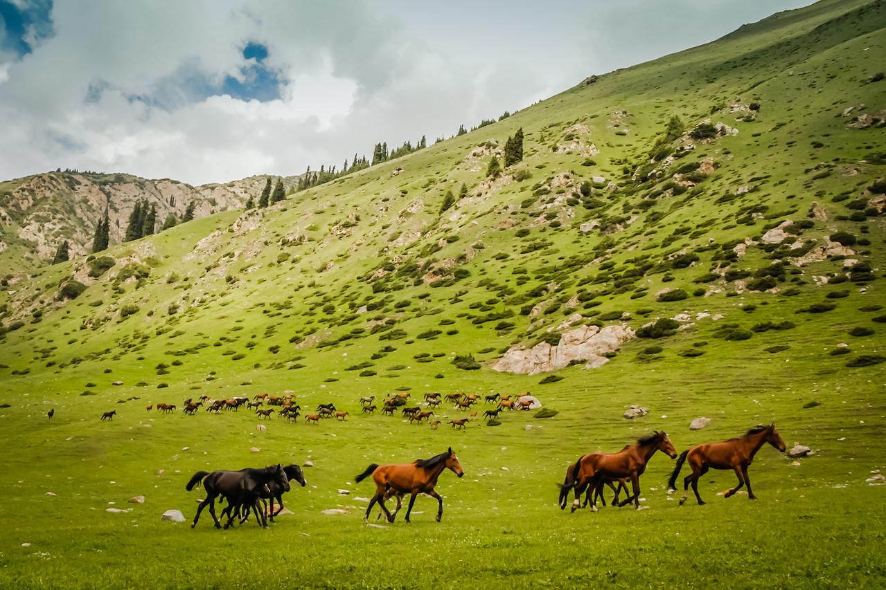 Hike in the Altyn Arashan Valley, Kyrgyzstan